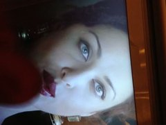 my cum on Aishwarya Rai's Hot Red lips!!!