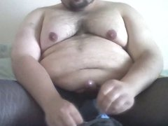 chub fat guy. tights wank