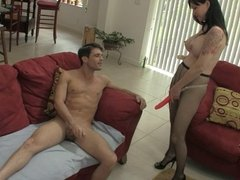 Ride Angies Strap On PEGGING HJ HUGE TITS