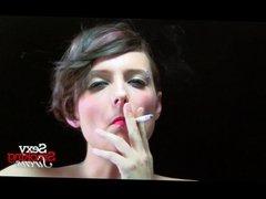 Sexy Brunette Mary Jane Smoking Interview