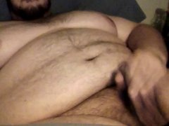 Chub stroke and cum
