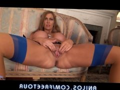 Gorgeous mom with huge tits and squirting pussy