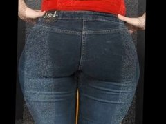 Milf Mature in tight jeans big ass butt mom phat booty