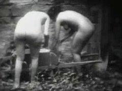 Vintage Erotic Movie 9  - Jour de Lavage - Laundry Day 1920