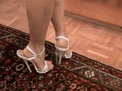 mirror high heels