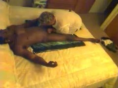 Granny Shirley enjoys young black Part 1