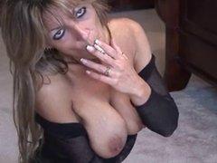 Blonde Smoking and Fingering 2