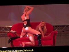 wild lesbian sex show