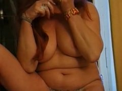 Chubby old redhead french granny