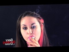 Smoking Fetish - Sexy Brunette Smoking in Your Face