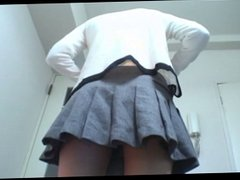 japanese school girl in a house