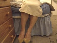 Horny office lady gianmarco lorenzi on her bed