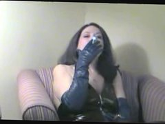 Smoking Fetish Mature smoking in latex