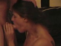 Deepthroat gagging Blowjob and facial with British Ex-GF
