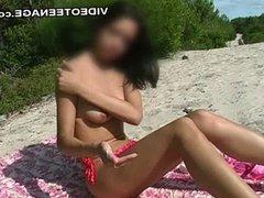 18 years old nudist teen at beach