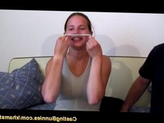 her first anal video casting