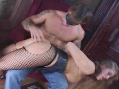 Big tits gets trained