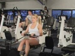 British Blonde using the gym for another reason