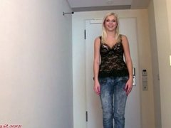 Blond sexyemployee natural bigtit test
