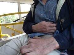 Me wanking in public on bus! (1st time)