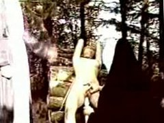 Two nuns punish and humiliate a young girl