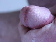 Closeup cumshot circumcised cock