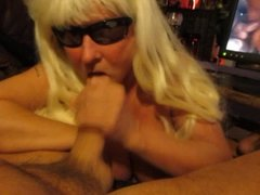 Nice blonde , nice blowjob