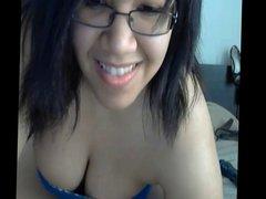 Busty Latina exposing big tits