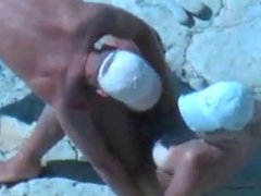 amateur fuck slut on beach voyeur