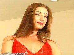 Horny slut licks a mans butthole