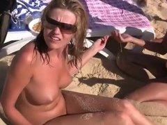 Pretty Girls nude on Beach