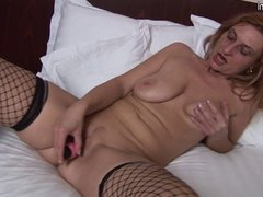Old mature slut playing with her pussy