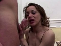 Mature analfucked in ripped pantyhose