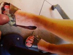Tribute cum on kiwi4545 gf feet with birkenstock sandals