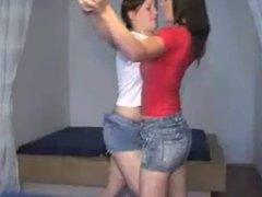 Short skirt girls fight