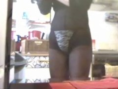 Anal - 8inch throught pantyhose