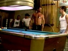 Pool hall bears swallow big cocks