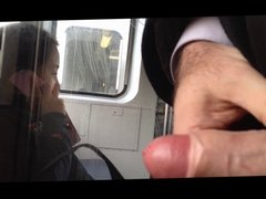 Close up train flash
