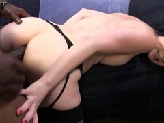 Cuckold watching his slut wife fucked by BBC