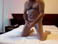 Peter's Naked Romp and Wank on the Bed