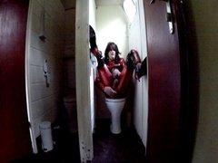 Babsi Steel on public toilet