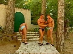 Muscle beach boys orgy outdoors
