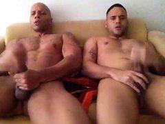 Two friends Jerking