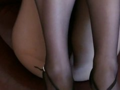 Legs and feet in fashion seamless pantyhose