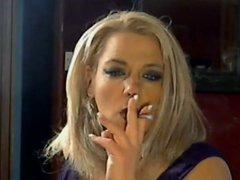 Hot Busty Mature Cougar Smoking Solo