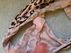 Wanking into dirty panties