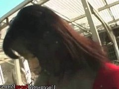 Uncensored Japanese public nudity blowjob video Japan porn