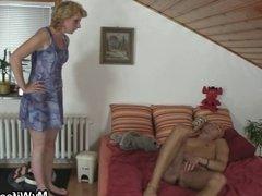Horny guy screws his GF's mother