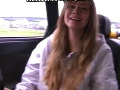 Young blonde sucking in car