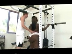 Deep workout for big black slut